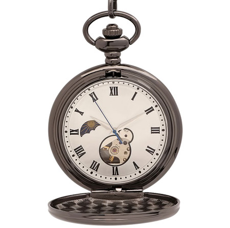 6aa78fd5ebd26 Personalized Pocket Watch. Personalized Pocket Watch  Engraved Pocket Watch   Mechanical Luxury Smooth Black ...