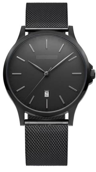 Personalized Black Stainless Steel Quality Luxury Quartz Watch
