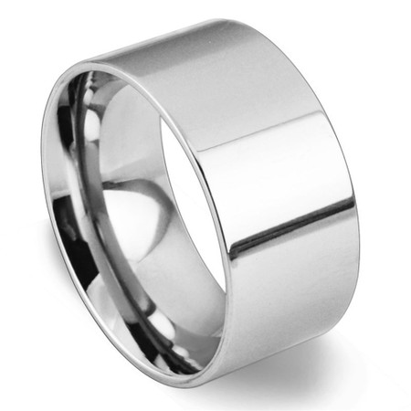 8MM Personalized Wedding Ring Black Plated Stainless Steel Ring Custom Wedding Band Ring Pipe Cut High Polish Wedding Ring