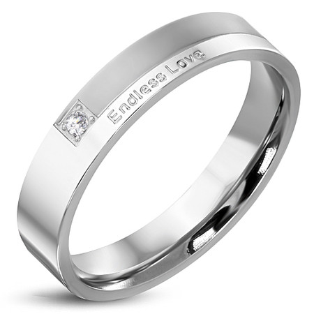 Free Engraving Appealing Gold Over Stainless Steel Half Eternity Band
