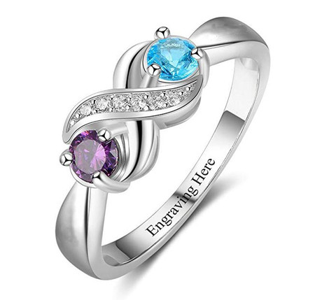 Quality .925 Sterling Silver Infinity Ring with CZ