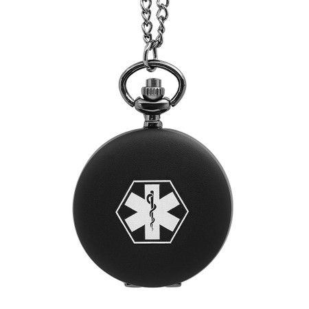 Quality Personalized Small Pocket Watch Medical ID Necklace