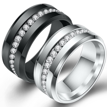 Personalized 7.9MM Stainless Steel Eternity Ring