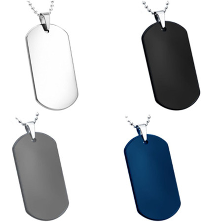 Personalized Quality High Polish Tungsten Carbide Small Dog tag  Pendant