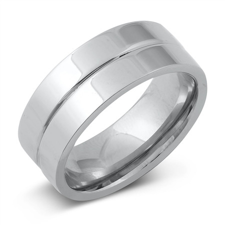 Personalized Stainless Steel 8mm Band Ring