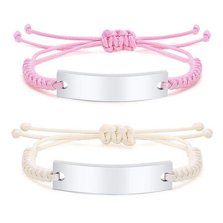 Personalized Adjustable Braided Rope Baby ID Bracelet