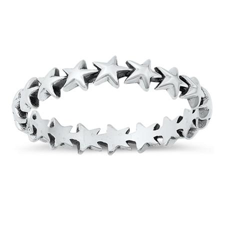 Sterling silver stars ring