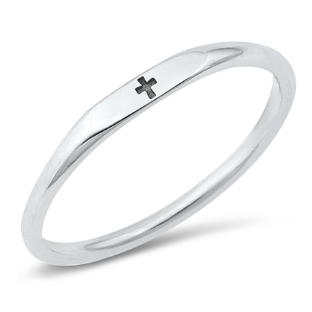 Sterling Silver Small Cross Ring