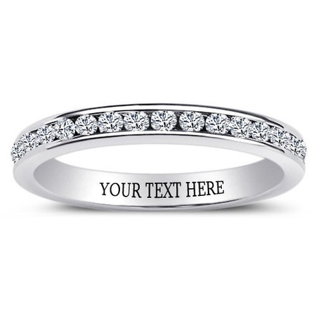 f6d2580597 Sterling Silver Eternity Ring with Clear CZ - ForeverGifts.com