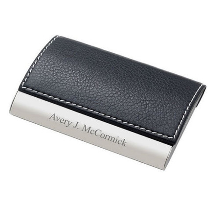 Quality Genuine Leather Magnetic Business Card Case Forevergifts