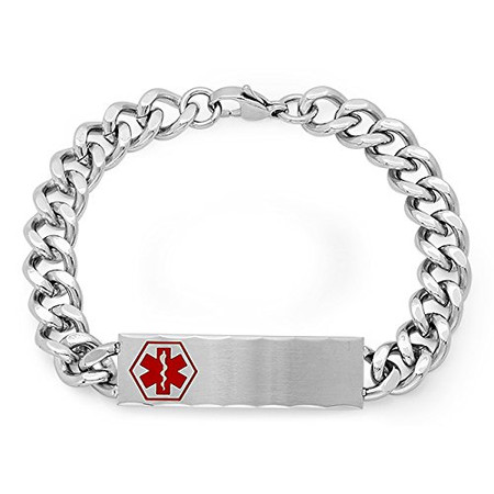 Quality Stainless Steel Two Tone Medical ID Bracelet