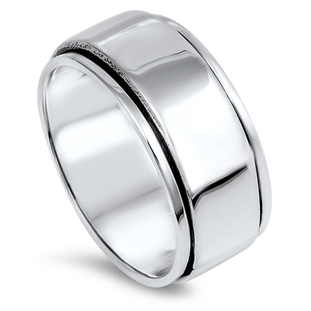2c30c4fa0cf95 10mm Personalized Sterling Silver Spinner Ring