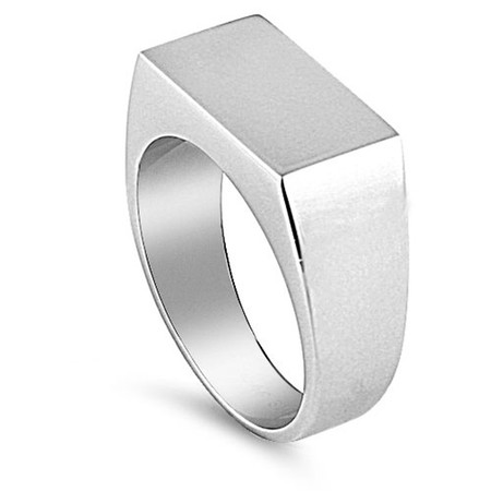 Personalized Stainless Steel Signet Ring