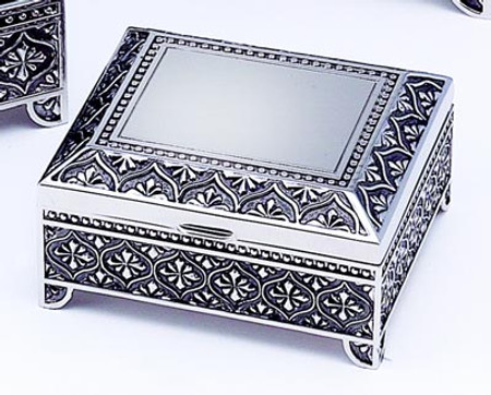 "Personalized Square 4"" Quality Jewelry box"