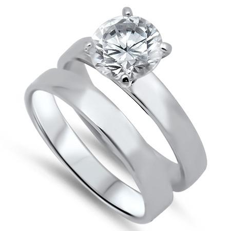 Wedding Rings Sets.Sterling Silver Wedding Ring Sets Free Engraving
