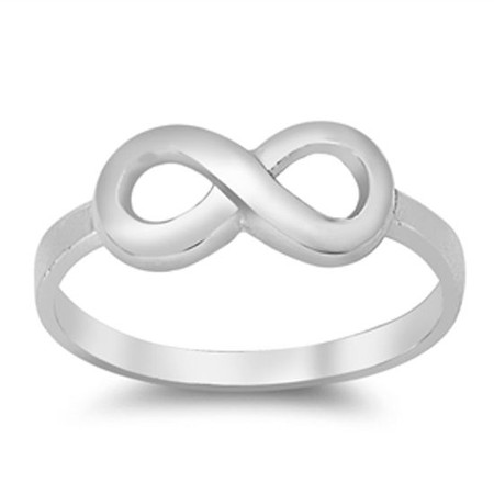 Personalized Plain Sterling Silver Infinity Ring