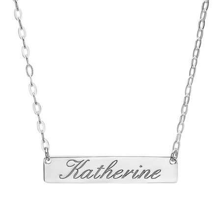 e00a62c1fb089 Sterling Silver Petite Name Bar Necklace
