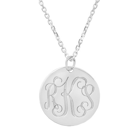 b3ae9eef26eab9 Personalized Sterling Silver Monogram Necklace - ForeverGifts.com