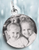 Personalized Stainless Steel Small Round Photo  Pendant