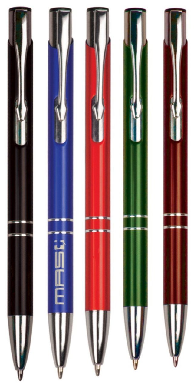 Personalized Silver /& Red Ballpoint Pen Custom Engraved Free Ships From USA