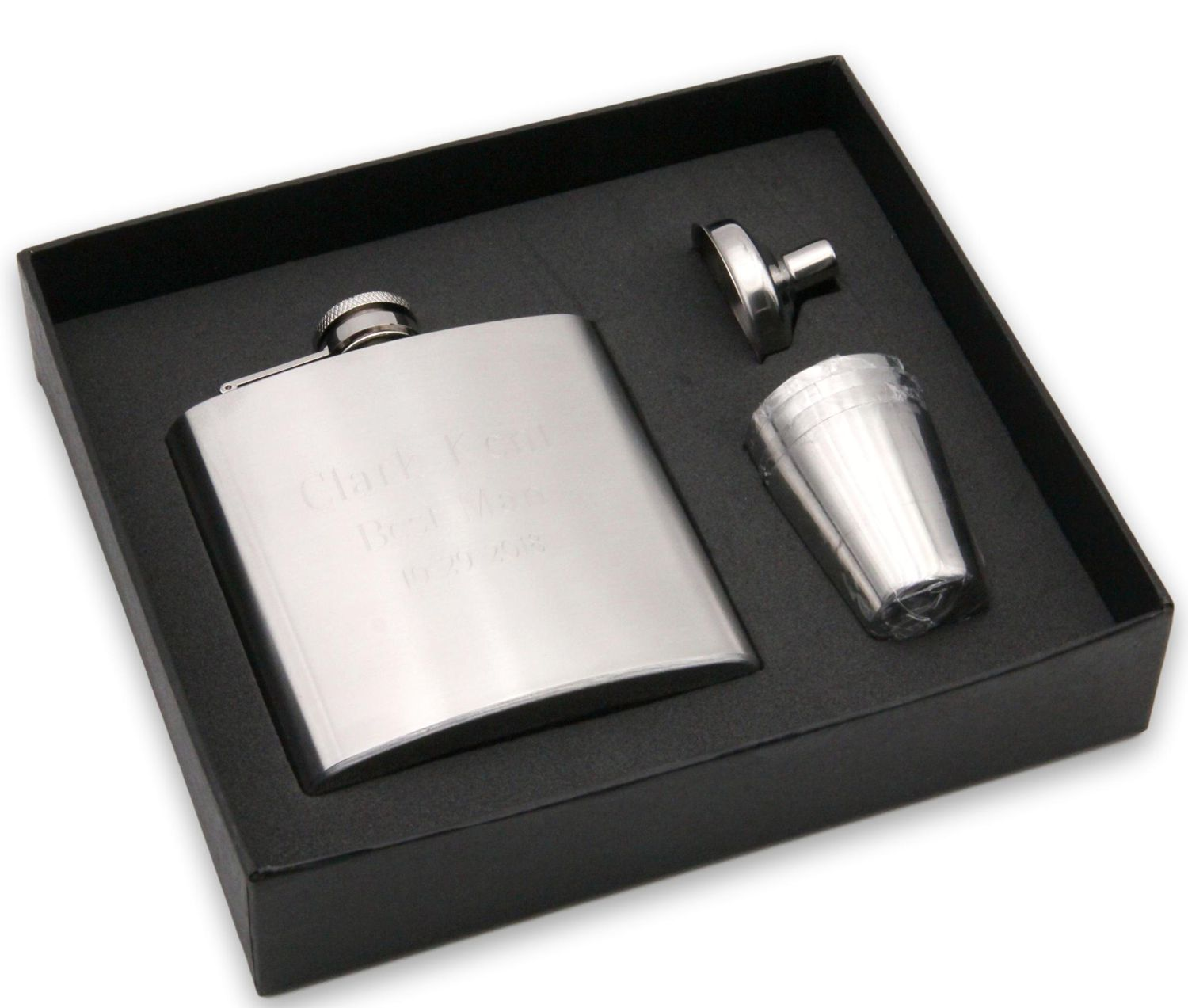 Dad Gift Engraved Flask Dad Youre Tee-rrific Personalized 6 oz Black Matte Stainless Steel Flask DM28ZI FSK602 FSK652SETA