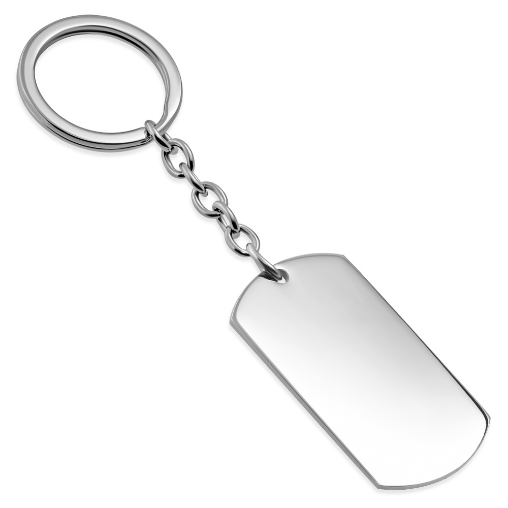 Metal Key Fob Custom Jewelry Hand Stamped Keychain Engraved ID Tag Metal Necklace Custom Gift Outdoor Life Personalized Keychain