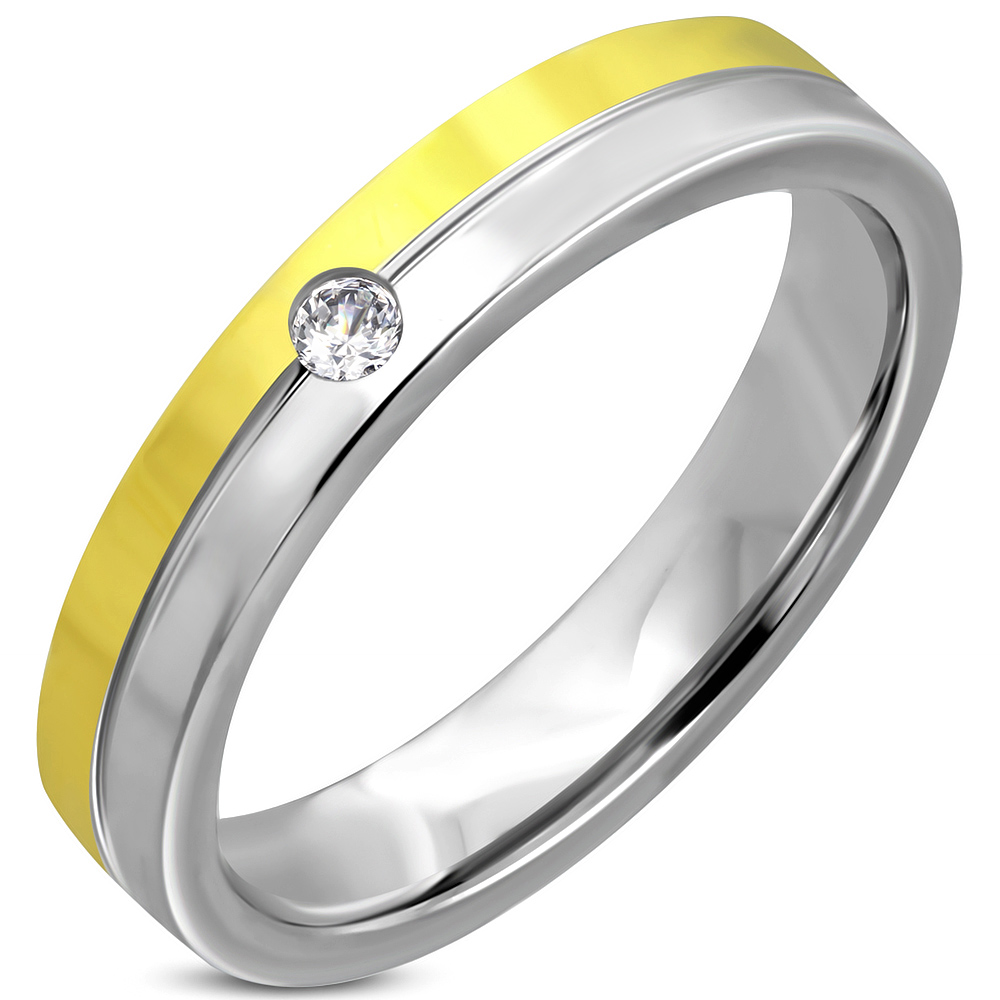 Stainless Steel Roman Numeral Spinning Flat Band Ring