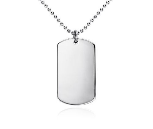 Personalized Sterling Silver Dog Tag - Free Engraving - ForeverGifts.com 68eb5d5ba59b