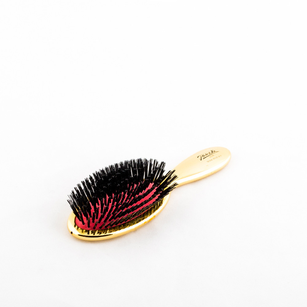 Gold Small Hairbrush with Pure Boar Bristle