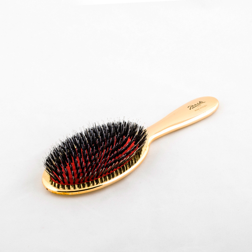 Gold Classic Hairbrush with Boar/Nylon Bristles