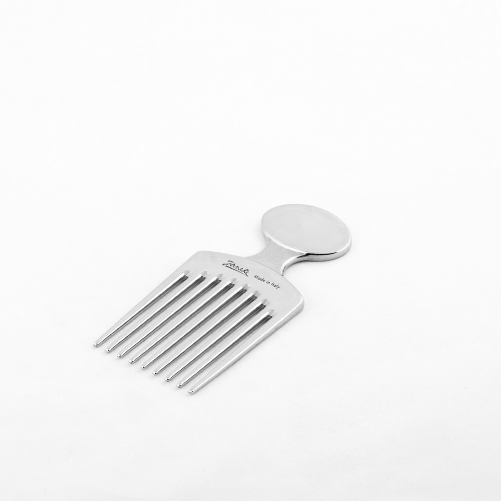 Silver Afro Comb
