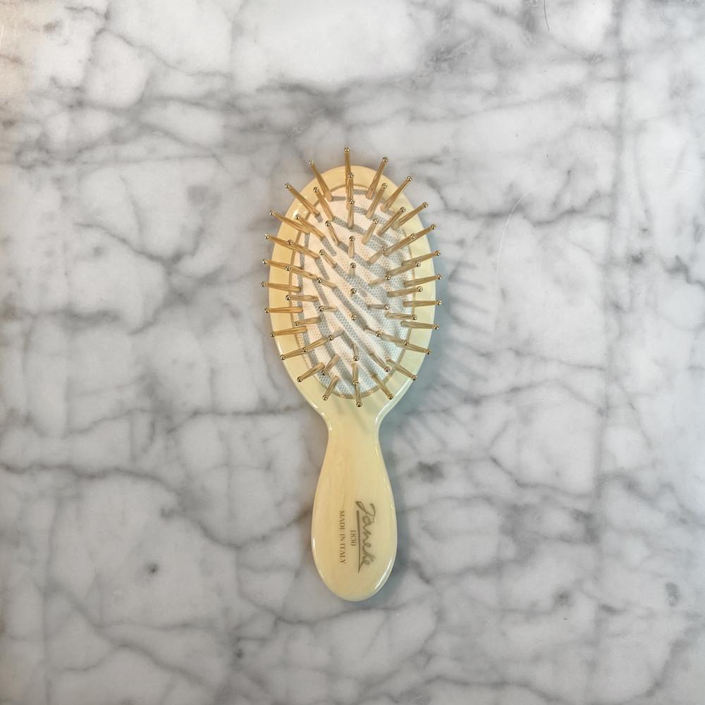 Janeke Faux Ivory Mini Hairbrush (JK-SP24G-CRN)