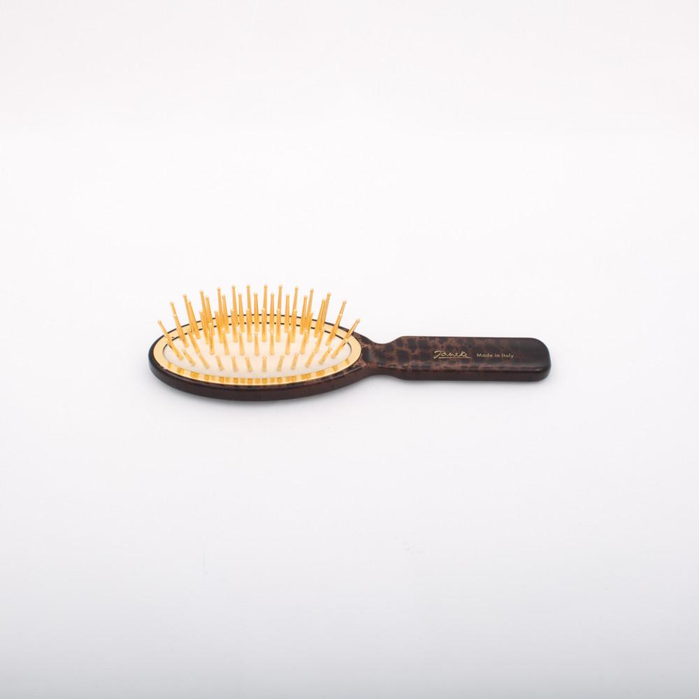 Leopard Print Gold Bristle Small Hair Brush (JK-SP09GV-MAC)