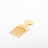 Gold Afro Comb