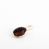 Gold Mini Hairbrush with Vegan Boar/Nylon Bristles (JK-AUSP24VM)