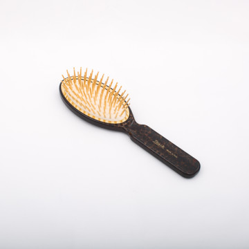 Leopard Print Gold Bristle Classic Hair Brush (JK-SP08GV-MAC)