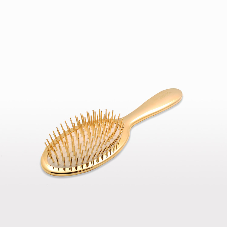 Gold Classic Hairbrush with Gold Bristle (AUSP08G) by Janeke - Made in Italy since 1830