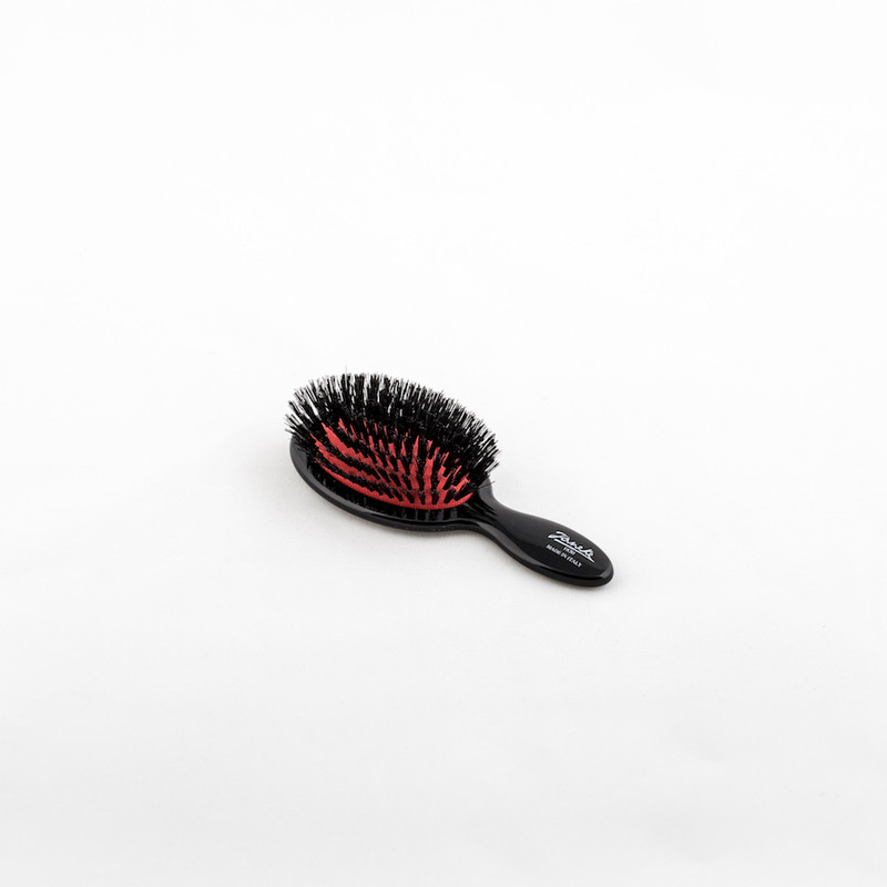 Pure Boar Bristle Mini Hairbrush (SP24SF_NER) by Janeke - Made in Italy since 1830