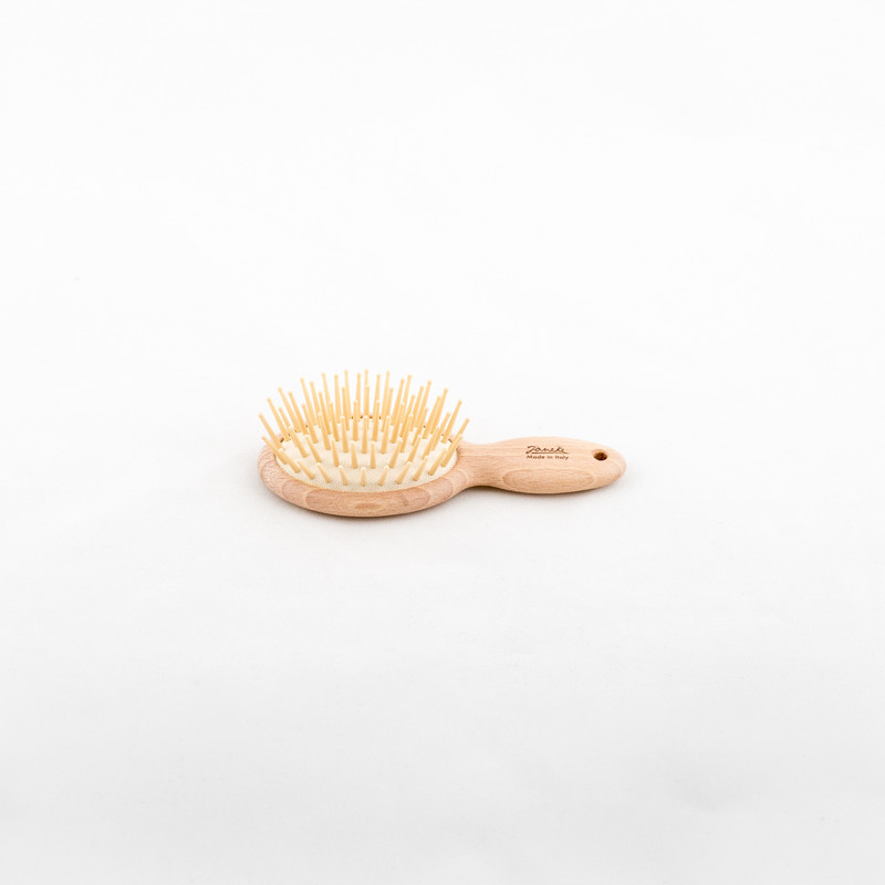 Beech Wood Mini Hairbrush (SP63) by Janeke