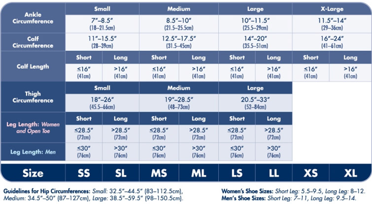 women and men's shoe size and hip circumference size table