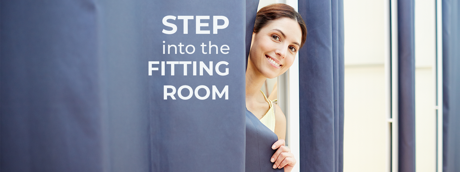 step into fitting room