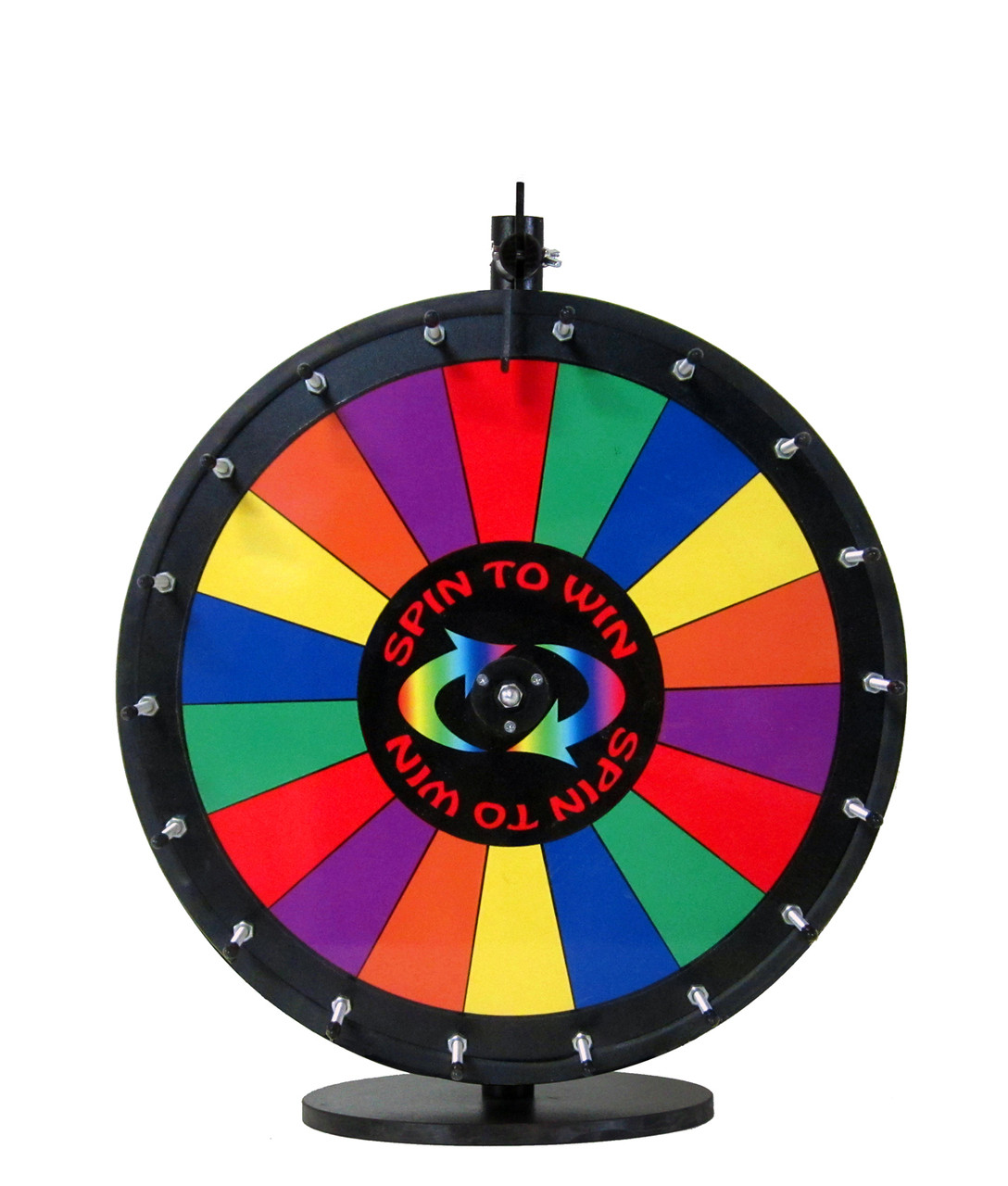 18 Inch Spin to Win Color Dry Erase Prize Wheel with 18 sections