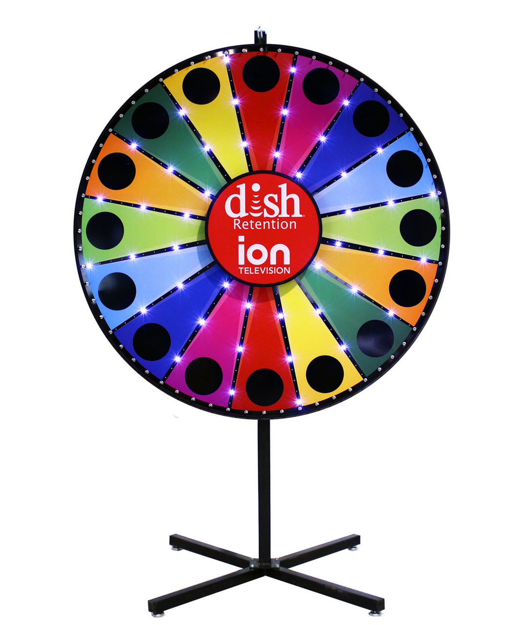 60 Inch Custom Lighted Prize Wheel AC Power - Spinning Designs