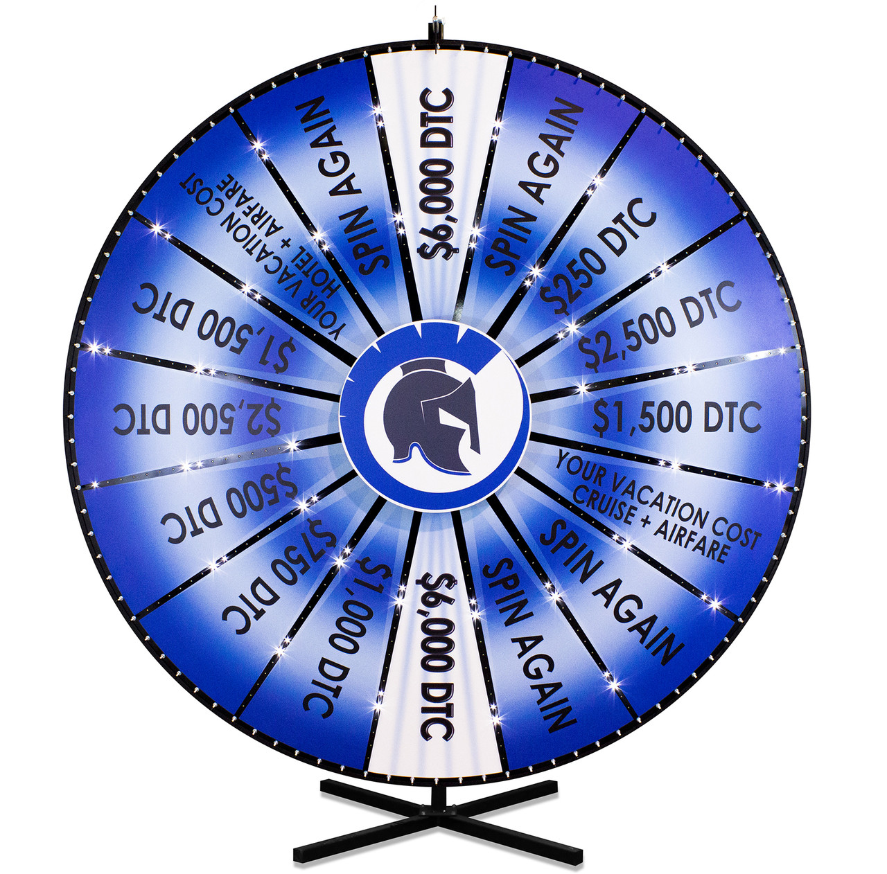 96 Inch Custom Lighted Prize Wheel AC Power - Spinning Designs