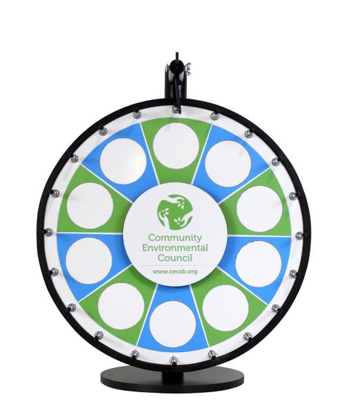 custom prize wheels insert your own graphics prize. Black Bedroom Furniture Sets. Home Design Ideas