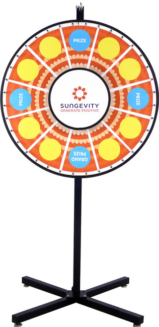 36 Inch Removable Magnetic Graphics Prize Wheel Upgraded