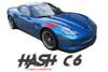 Chevy Corvette C6 DOUBLE BAR Hash Mark Fender Hood Vinyl Graphic Stripes for 2005 2006 2007 2008 2009 2010 2011 2012 2013