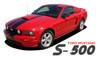 Ford Mustang WILDSTANG S-500 Lemans GT500 Style 10 inch Wide Vinyl Hood Racing Stripe Decals Kit 2005 2006 2007 2008 2009