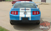 Ford Mustang STAMPEDE 10 Inch Racing Rally Stripes OEM Factory Style Hood Vinyl Graphic Decal Kit 2010 2011 2012 Models