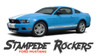 Ford Mustang STAMPEDE ROCKER Lower Door Panel Body Stripes Vinyl Graphics Decals 2010 2011 2012 Models